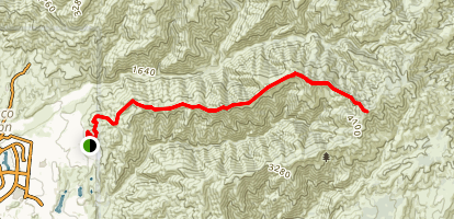 Los Pinos Peak - Via Bell Ridge Map