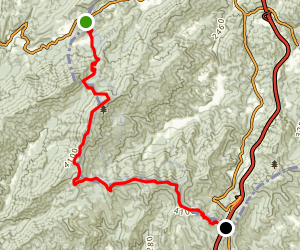Appalachian Trail: Devil's Gap to Sam's Gap Map