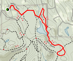 English Pond, Red Barn, and Easy 8 Loop Trail Map