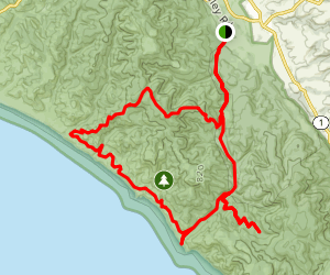 Woodward Valley Backpacking Loop Map