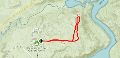Mouth of the Canyon Trail Map