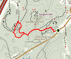 Bolton Lime Quarry and Kiln Loop Map