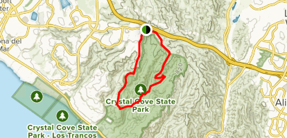 Crystal Peak Park Loop Map