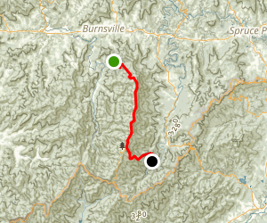 Black Crest Trail and Mount Mitchell Map