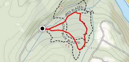 Webb Mountain Yellow/Orange/Red Loop Map