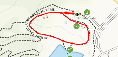Mount Tabor Park Walking Trail Map