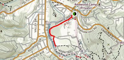 Zayante Trail to Meadow Trail Map