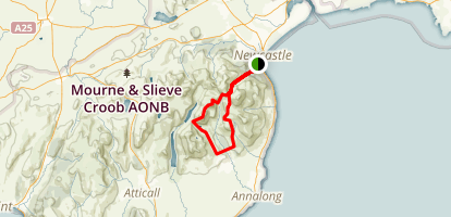 Devils Coach from Donard car Park Map