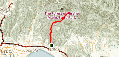 Epicenter to Five Finger Falls Map