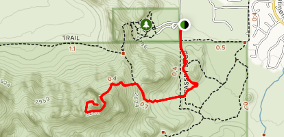 Safford (Sombrero) Peak Via North Scenic Drive Map