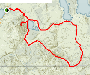 Heart Lake and Two Ocean Plateau Loop Map