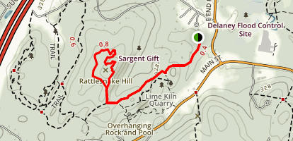 Harris Farms Trail to Rattle Snake Hill Trail Map