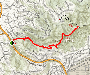 Magnolia Trail to Buzzard Peak Road Map