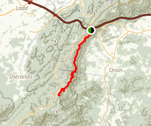 Rockfish Gap to Dripping Rock and Humpback Mountain via Appalachian Trail Map