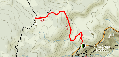 CCC Trail to Black Ridge Map