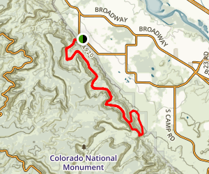 Bench Route to Corkscrew Loop Map