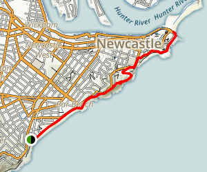 Bathers Way to Newcastle  Map