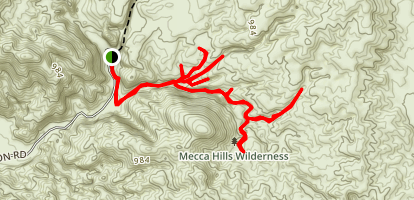 Mecca Hills Trail Map