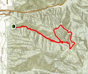 Logan Peak Via Dry Canyon Map