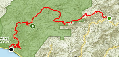 Backbone Trail: Mishe Mokwa to Ray Miller Map