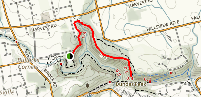 Dundas Peak Trail Map