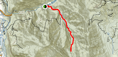 Cold Water Canyon Trail Map