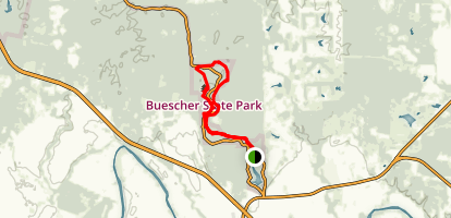 Buescher State Park Trails Map