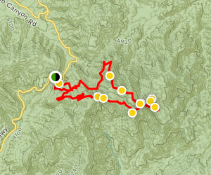 Mount Pacifico Loop Trail Map