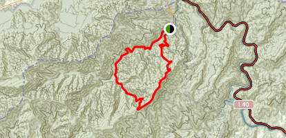 Mount Sterling Overnight Loop Trail Map