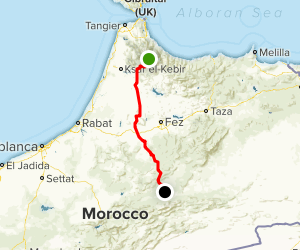 Chefchaouen to Zeida Scenic Drive Map