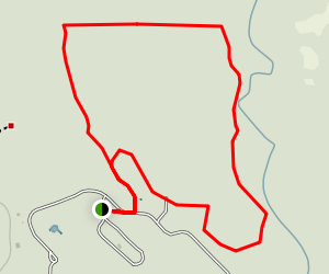 Florida Caverns Campground: Red and Blue Loop Trail Map