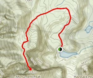 Blue Lake to Monument Peak Map