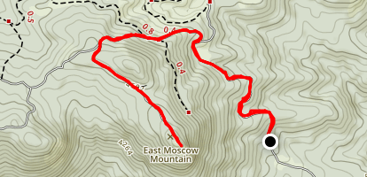 East Moscow Mountain Map