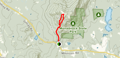 Halfway House Trail to Mount Rosa Mount Monadnock Loop Map