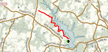 Tridelphia Reservoir Map