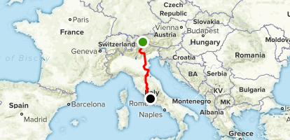 Map Of South Of Italy.Via Romea Germanica Originale Trentino South Tyrol Italy Alltrails