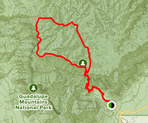 Bush Mountain Trail to Blue Ridge Loop Map