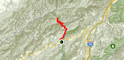 Appalachian Trail: Devil Fork Gap to Coldspring Mountain Map