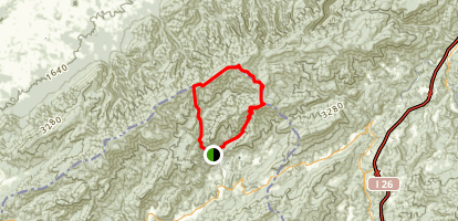 Appalachian Trail: Green Ridge to Fork Ridge  Map