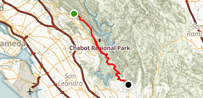 MacDonald Trail to Proctor Gate Map