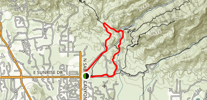 Sabino Lake Trail Map