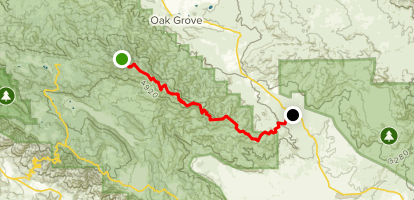 Palomar Divide Truck Trail (CLOSED) Map