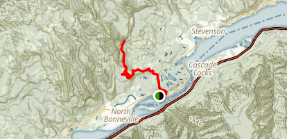 Greenleaf Falls Trail Via Pacific Crest Trail Map
