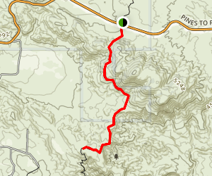 PCT near Lookout Mountain Map