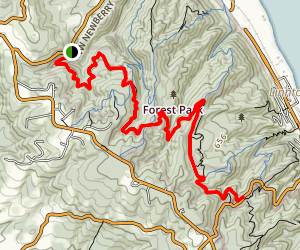 Wildwood Trail - Newberry Rd to Germantown Rd Map