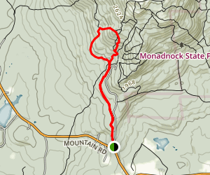 Mossy Brook and Great Pasture Loop Trail Map