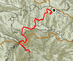 Jackson Lake to Vincent's Cabin Map