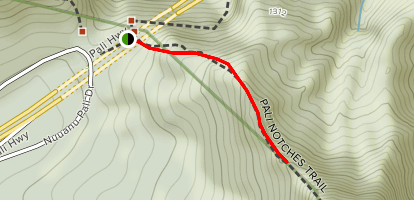 Pali Notches Trail Map
