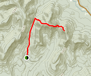 Mink Hallow Trail to Twin Mountain  Map