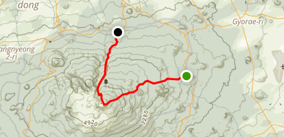 Hallasan Summit Through Hike Map